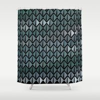 scales Shower Curtains featuring Scales by Xaphedo