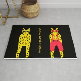 Leopards in Sunglasses - Cool for Cats Rug