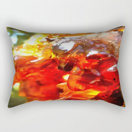 Apricot Resin Abstract Rectangular Pillow