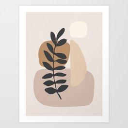 Abstract Art /Minimal Plant 6 Art Print