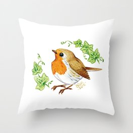 Robin & Ivy Throw Pillow