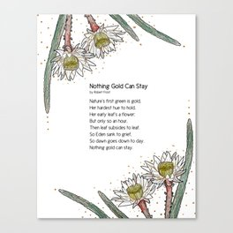 Night-blooming Cereus Canvas Print