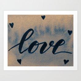 Valentine's Day Watercolor Love – neutral Art Print
