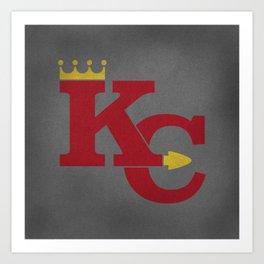 Kansas City Sports Red Art Print