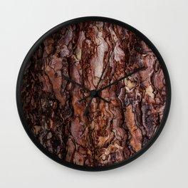 North American Bark Wall Clock
