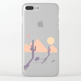 Vintage Desert Cutout Clear iPhone Case