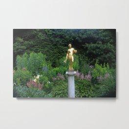 Pan in the Gardens Metal Print