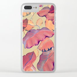 smooth big leaves Clear iPhone Case