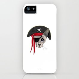 Meow Matey - Fearless Hairless Pirate Cat iPhone Case