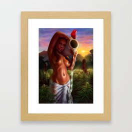 Roses of Weed Land Framed Art Print
