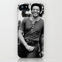 Bill Withers enhanced and grained old photo. For Jazz lovers. iPhone Case