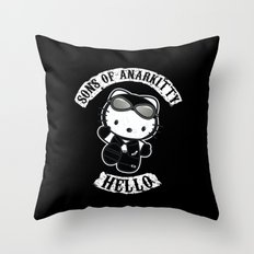 Sons of Anarkitty Throw Pillow
