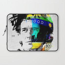 Ayrton Senna do Brasil - White & Color Series #4 Laptop Sleeve