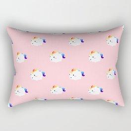 Kawaii rainbow fattycorn pattern Rectangular Pillow
