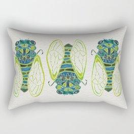 Blue Cicada Rectangular Pillow