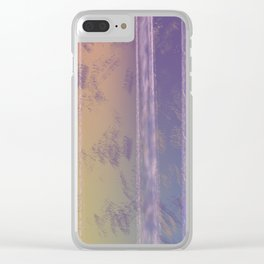 Abstract Yellow and Purple Clear iPhone Case