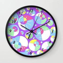 Bubble Purple Wall Clock