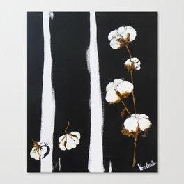 Cotton flowers Canvas Print