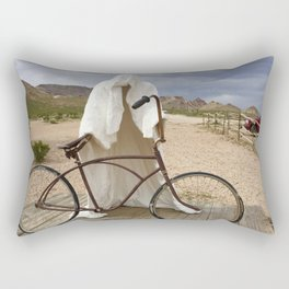 Ghost with bike Rectangular Pillow