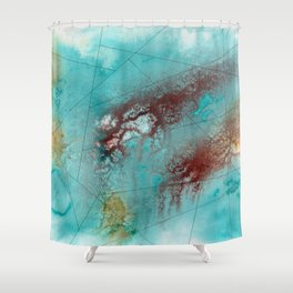 Maps Shower Curtain