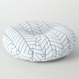 Herringbone - Princess Blue Floor Pillow