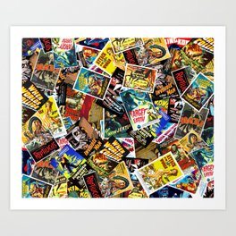 50s Movie Poster Collage #14 Art Print