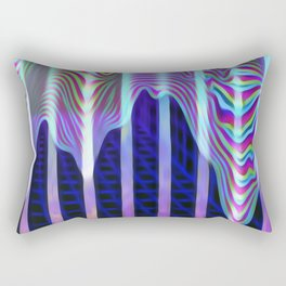 Dreams in neon Rectangular Pillow