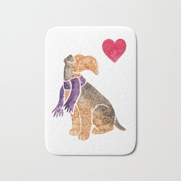 Watercolour Airedale Terrier Bath Mat