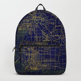 Pasadena antique map year 1896, blue and green artwork Backpack