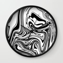 Stripes, distorted 3 Wall Clock
