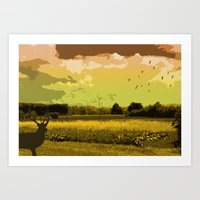wildlife Art Prints featuring Wildlife by Sergio Silva Santos