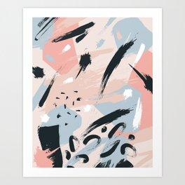 Pastel abstraction I Art Print