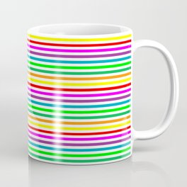 Small rainbow lines Coffee Mug