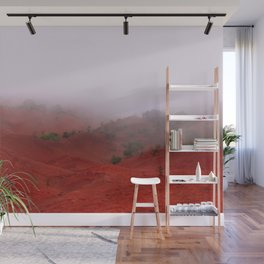 Red Land Wall Mural