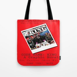 """Code Name: King""  - ALTERNATE Comic Book Promo Poster  Tote Bag"