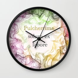 Latin quote Wall Clock