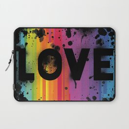 For Love - Black Background Laptop Sleeve