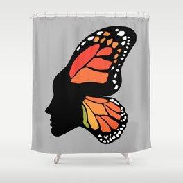 Butterfly Girl Shower Curtain