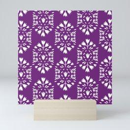 purple folk art paper flower Mini Art Print