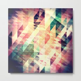 Textured Geometric Abstract Metal Print