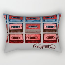 Magnetic - funky patterned mix tapes Rectangular Pillow