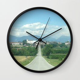 The Trick Is to Keep Going Up Wall Clock