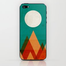 Full moon over Sahara desert iPhone & iPod Skin