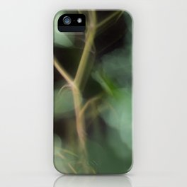 Abstract Eucalyptus Leaves on Black Background-Fleur Blur Series iPhone Case