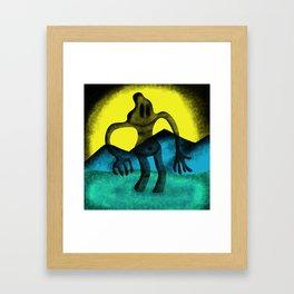 Shadowy Headacher Framed Art Print