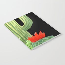 Perfect Cactus Bunch on Black Notebook