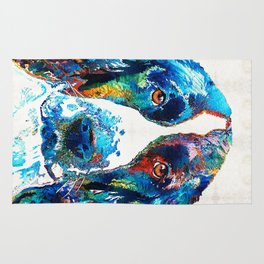 Colorful English Springer Spaniel Dog by Sharon Cummings Rug