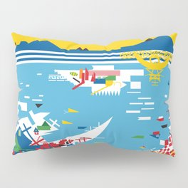 Flagscapes: World Portscape Pillow Sham