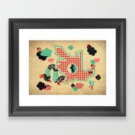 Dragon Playground Framed Art Print