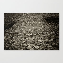 Leaf Covered Bridge Canvas Print